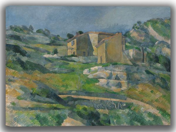 Cezanne, Paul: Houses in Provence - The Riaux Valley near L'Estaque. Fine Art Canvas. Sizes: A4/A3/A2/A1 (004085)